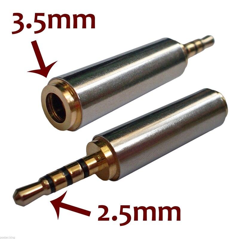 1pc 2,5mm 3,5mm macho a hembra de audio estéreo convertidor de enchufe...