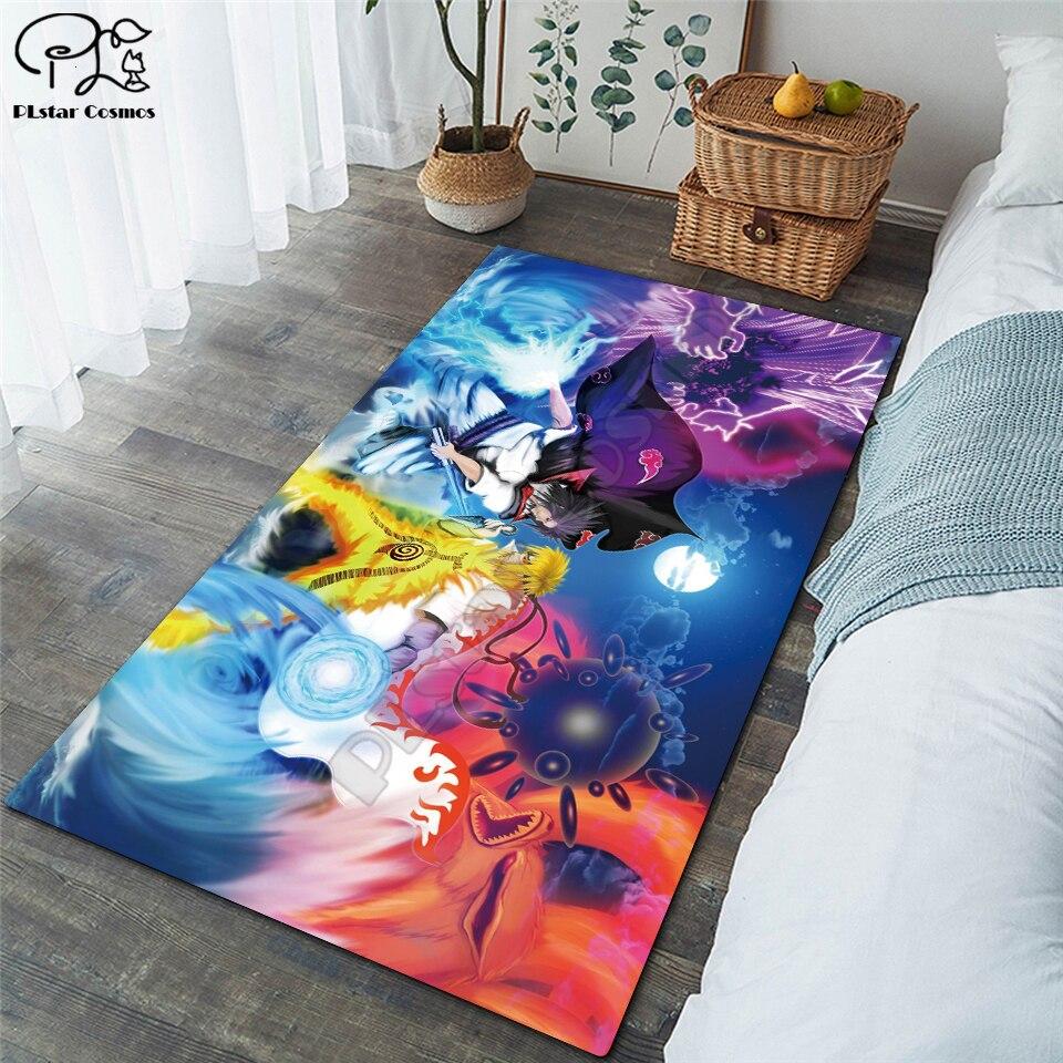 Alfombra antideslizante para el suelo de Naruto/Sasuke, alfombra antideslizante 3D, alfombra antideslizante para el comedor, la sala de estar, alfombra suave para dormitorio infantil 01