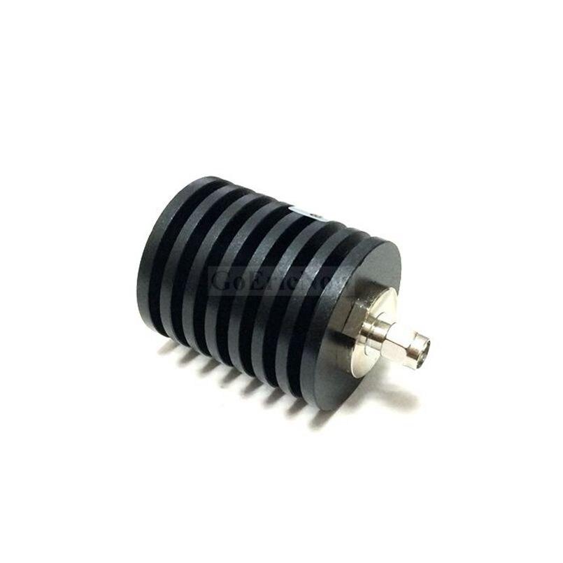 Conector coaxial fixo para fêmea, conector de atenuador coaxial fixo rf coax 30w 50 ohm dc para 3.0ghz, 1 peça