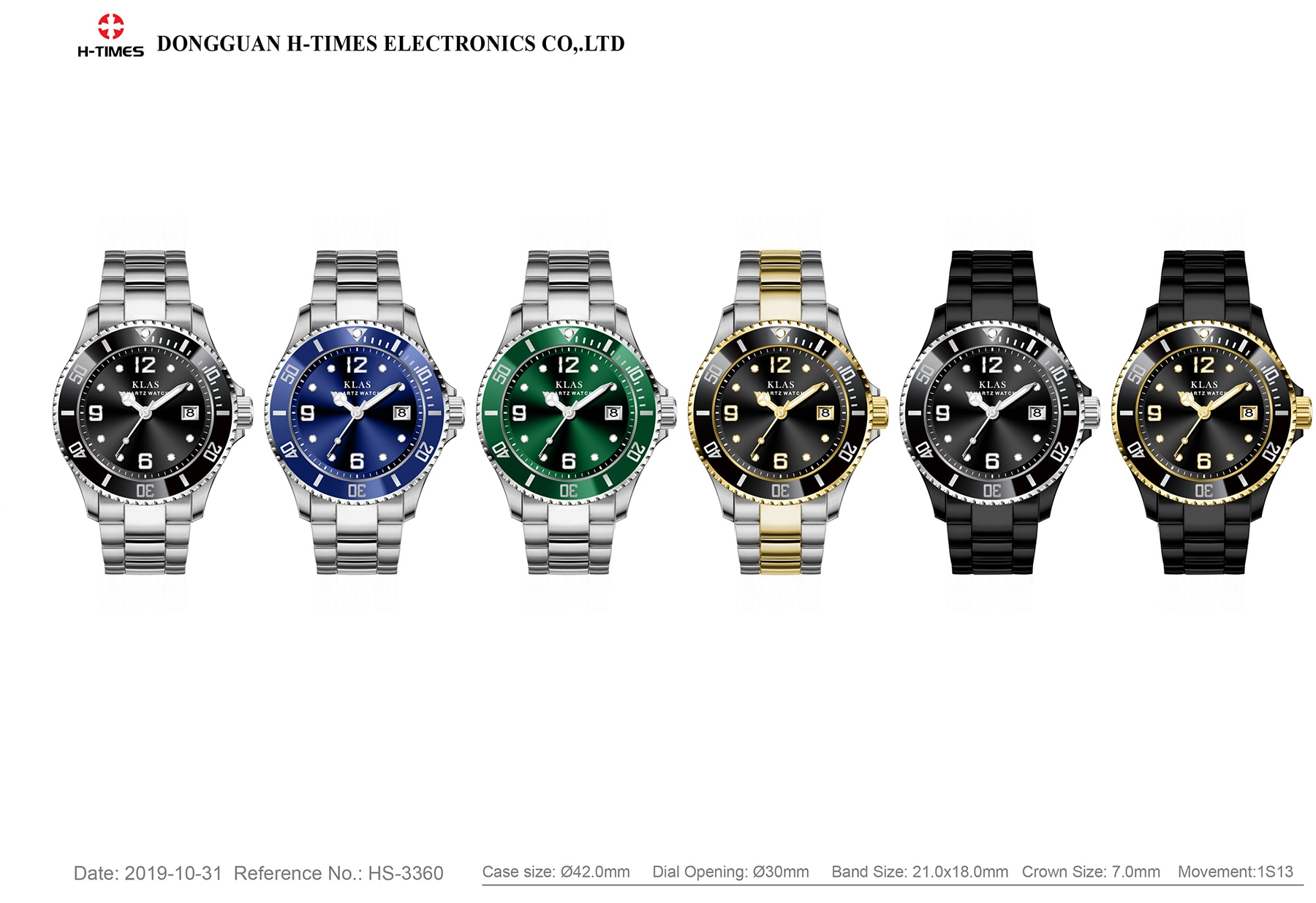 Moisture-proof  men's stainless steel watch  KLAS enlarge