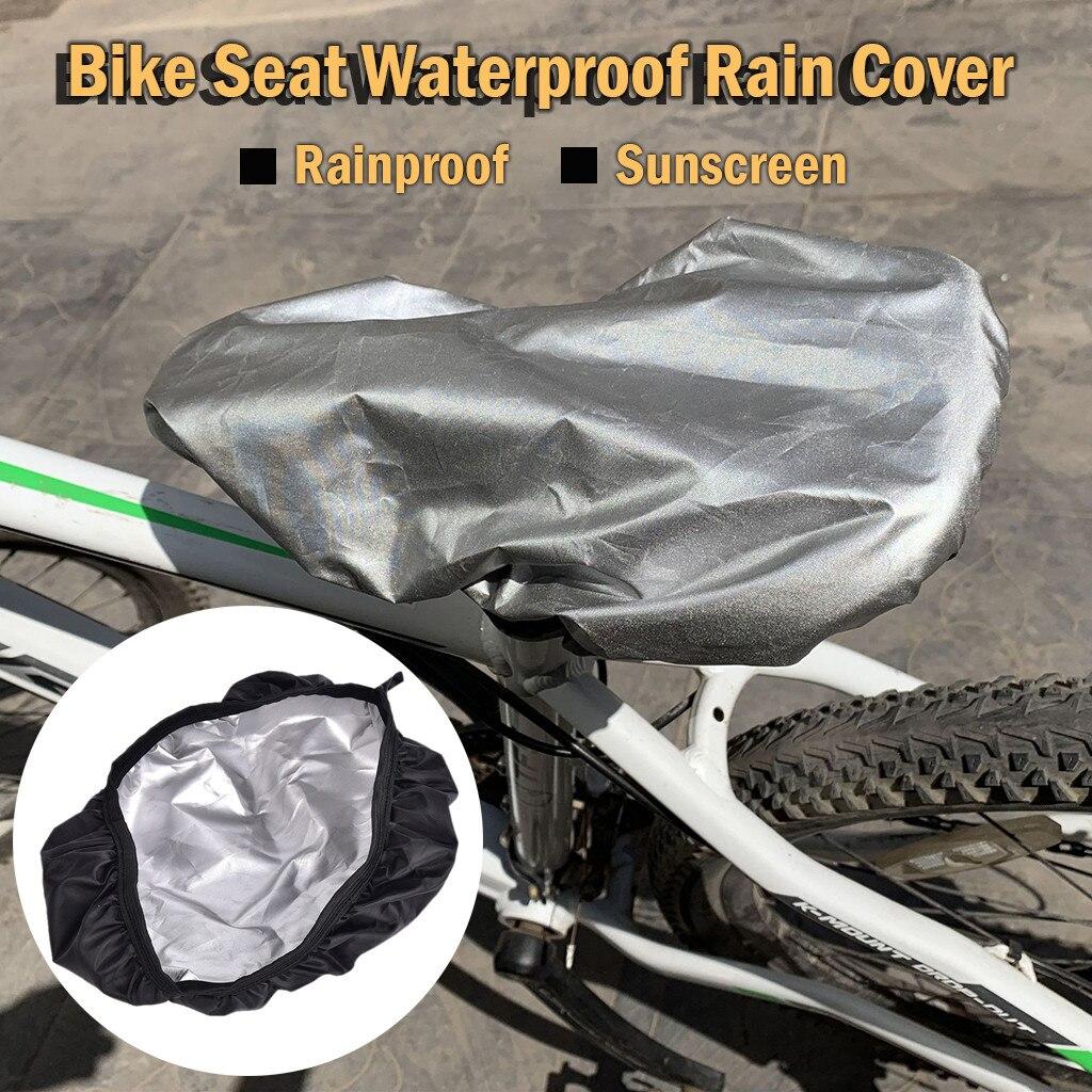 Selles de vélo imperméables revêtements de protection Pack de siège de vélo sac de Tube avant sacoche de selle couverture de pluie arrière utile nouveau # G
