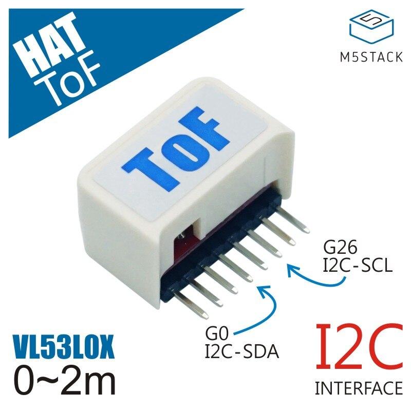 M5StickC ESP32Mini Placa de desarrollo para IoT Compatible con ToF HAT( VL53L0X y 940nm VCSEL) Sensor de rango láser de alta precisión