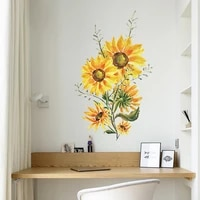 sunflower wall sticker for refrigerator cabinet door living room porch commercial wall decoration bedroom home decor wallpaper