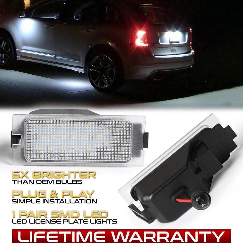 2 unids/set de luces de LED para placa de matrícula de Color blanco puro para Ford Edge 2007-2014 Escape 2008-2012 Mercury Mariner 2008-2011