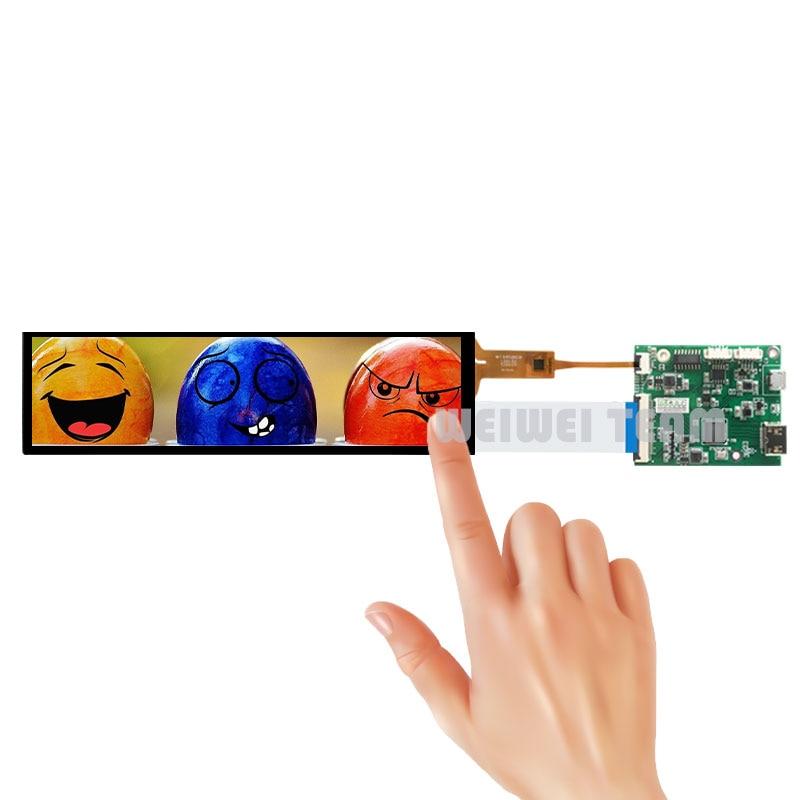 8.8 بوصة LCD شاشة تعمل باللمس 1920x480 HSD088IPW1 قضيب قابل للتمدد IPS Tft عرض لتوت العليق Pi Aida64 مراقب 60hz