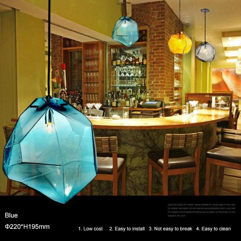 DiningNordic-مصباح سقف LED معلق مصنوع من الزجاج ، تصميم حديث ، إضاءة داخلية زخرفية ، مثالي لغرفة النوم أو المطبخ.