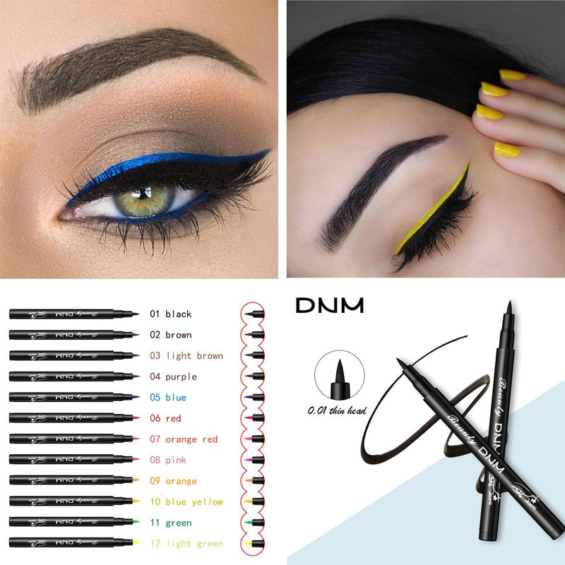 Color Matte Liquid Eyeliner Pencil Quick Dry Eye Liner Durable Natural Black Blue Party Waterproof Smudge-Proof Pigment Eyeliner