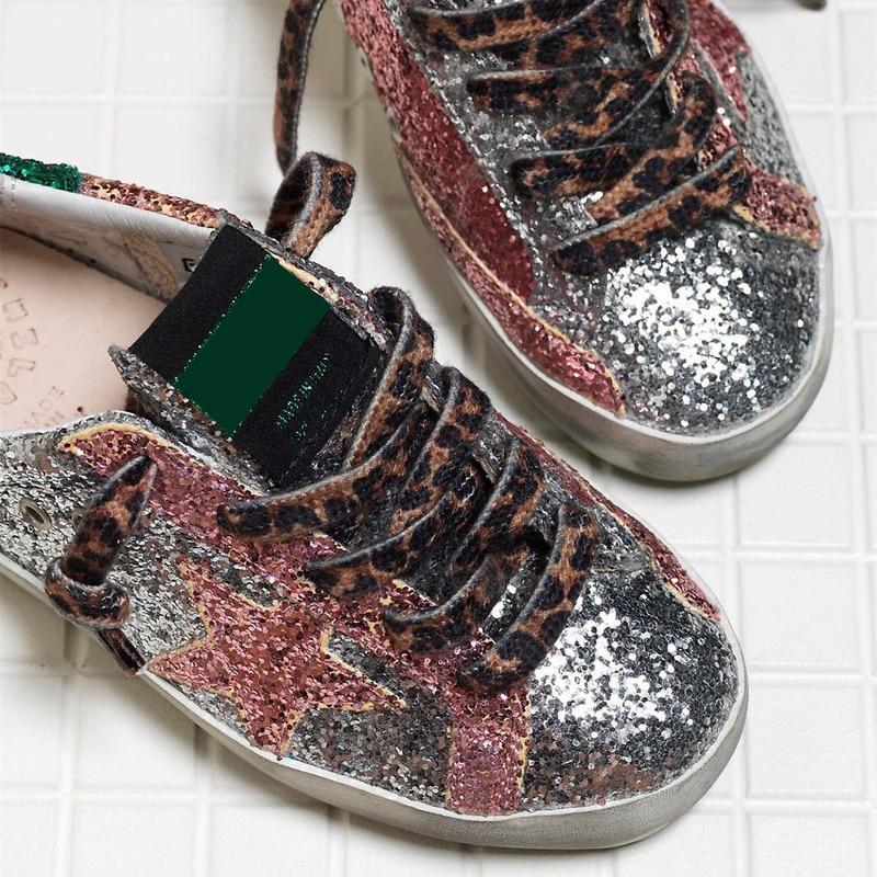 2021 Autumn New Color Matching Sequins Parent-child Shoes Dirty Retro Old Non-slip Wear-resistant Casual Children's Shoes QZ111 enlarge