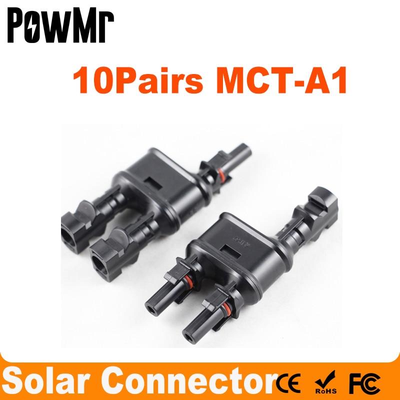 10 Pairs الشمسية PV فرع موصلات الطاقة الشمسية محول لوحة طاقة شمسية T/ Y فرع كابل الفاصل مقرنة الموحد MFF FMM