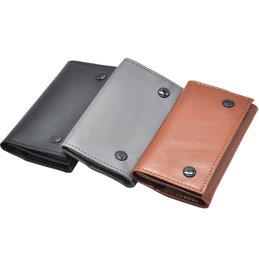 PU Leather Tobacco Pouch Bag Pipe Cigarette Holder Waterproof Smoking Paper Holder Wallet Bag Portab