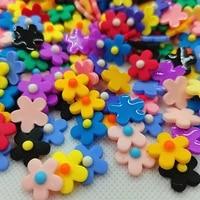 100pcs 15mm mix resin flowers decoration crafts flatback cabochon for scrapbooking diy accessories