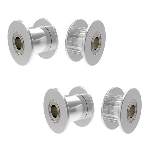 1Pcs Aluminum GT2 11mm Width 20 Tooth Teeth/Smooth 2GT Timing Idler Pulley Pully Double Bearing For 3D Printer Bore=3mm/4mm/5mm