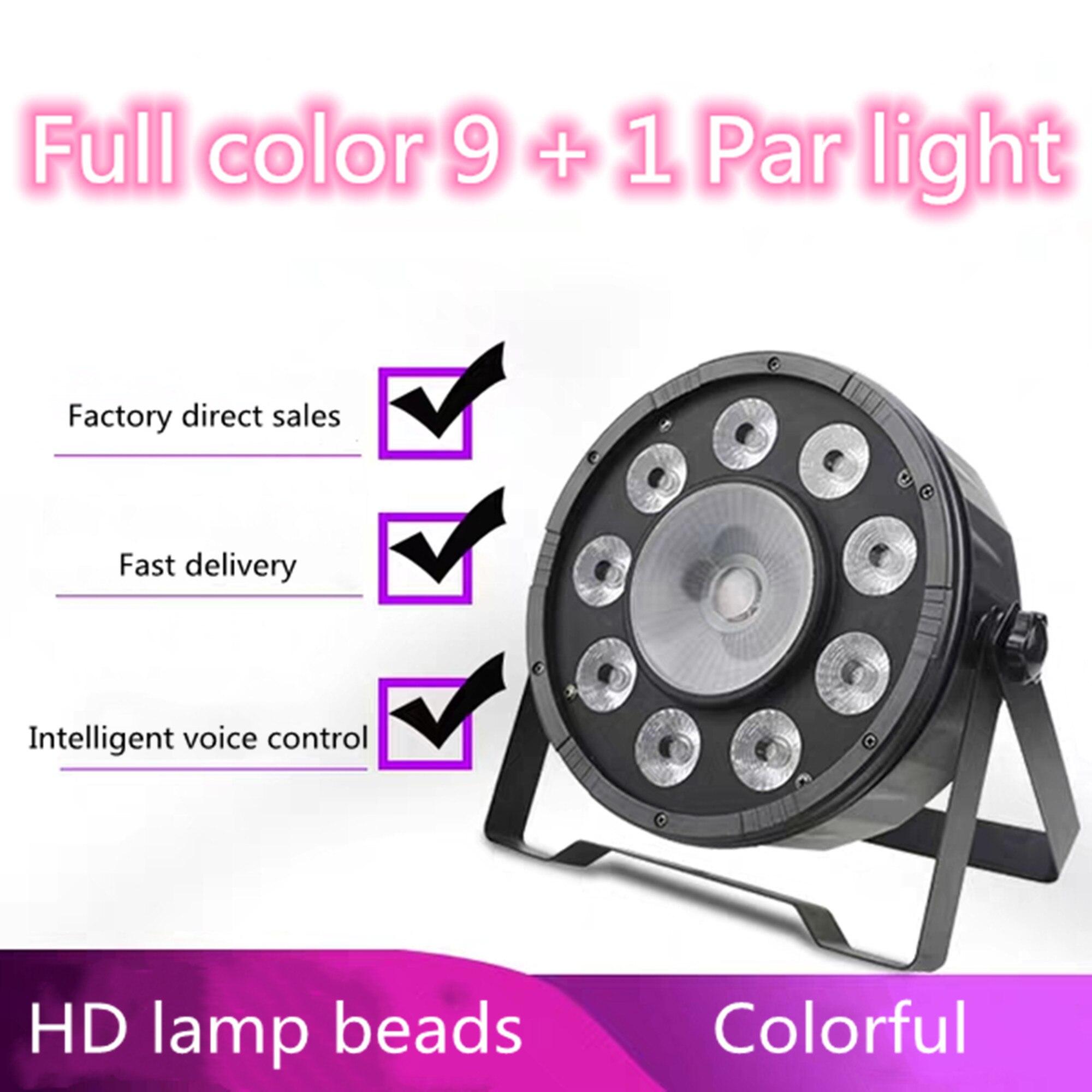 Envío rápido LED plano Par 9x10W + 30W RGB iluminación para DMX512...