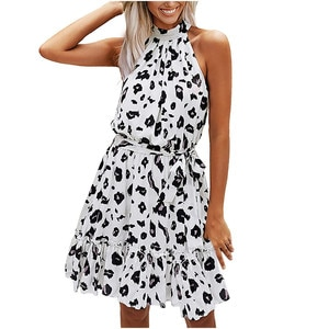 Maxi Dresses For Women Fashion Women Floral Printed Halter Strapless Ruffle Bandage Casual Dress Платья Больших Размеров