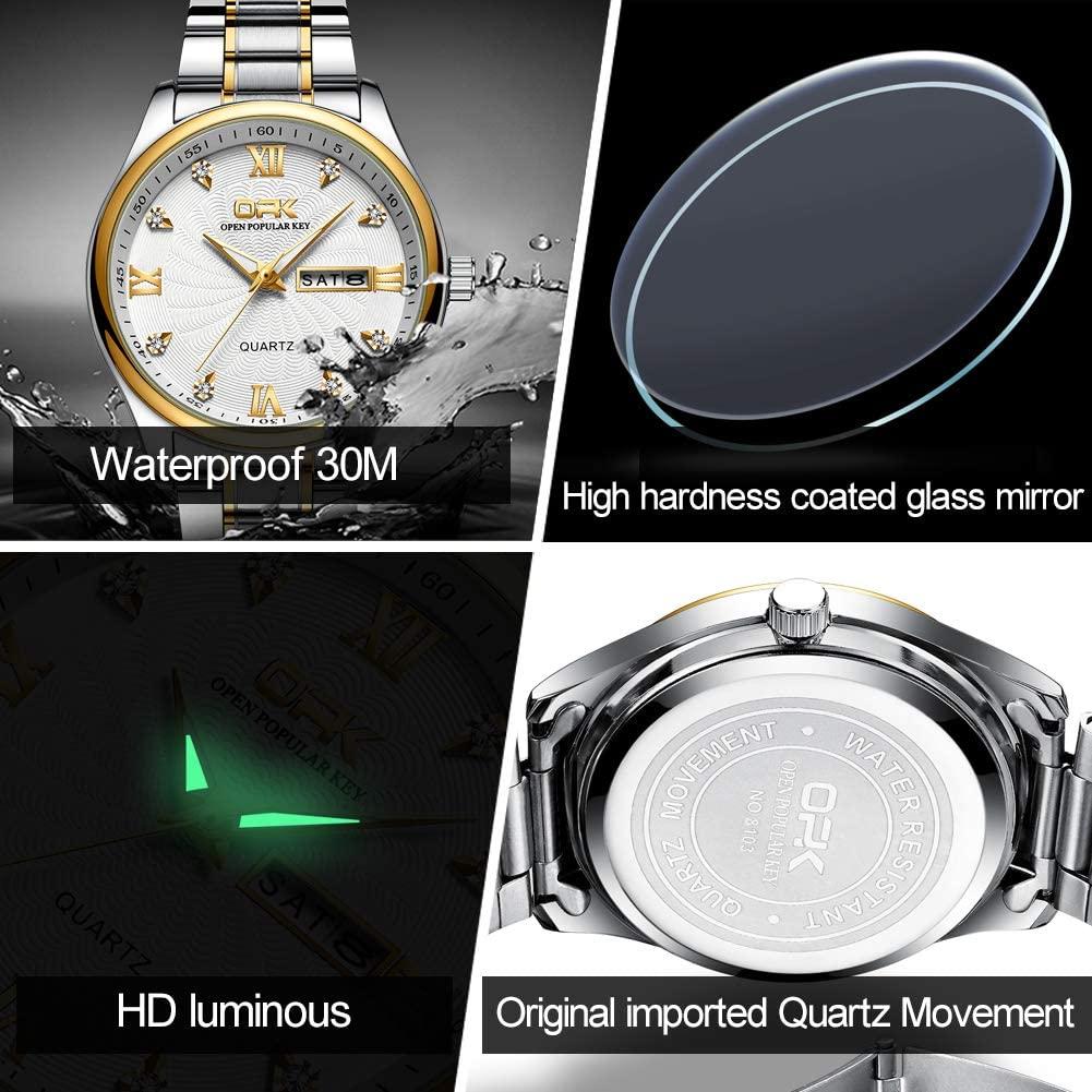 OPK Womens Watches Top Brand Fashion Casual Luxury Dress Stianless Steel Waterproof Wristwatch for Lady zegarek damski L8103 enlarge