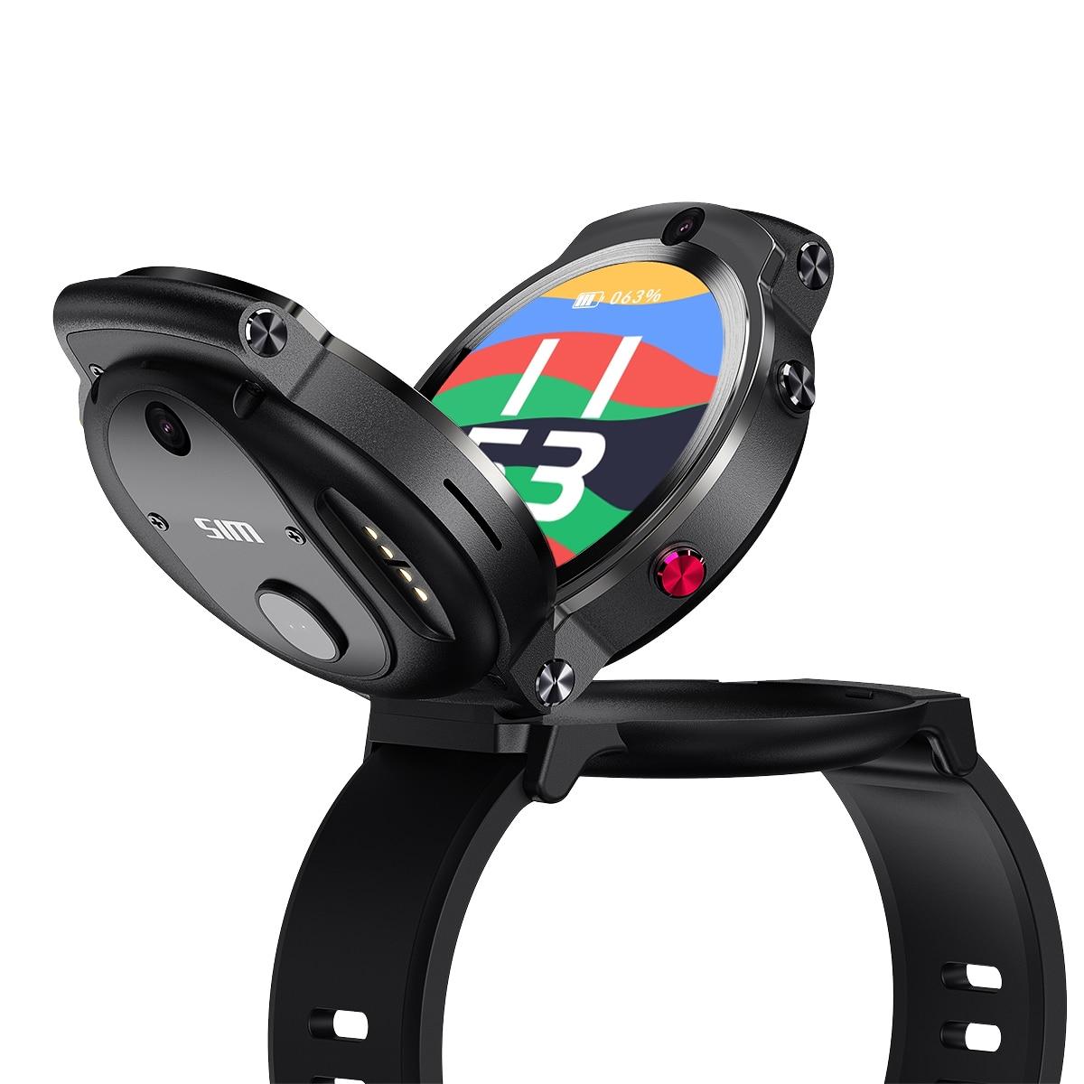 DM28 inteligente reloj de las mujeres de los hombres 4G identificación facial 1,6 pulgadas Pantalla Completa Android 7,1 OS 3G RAM 32G ROM 4G LTE Sim GPS supervisión de frecuencia cardiaca por WIFI