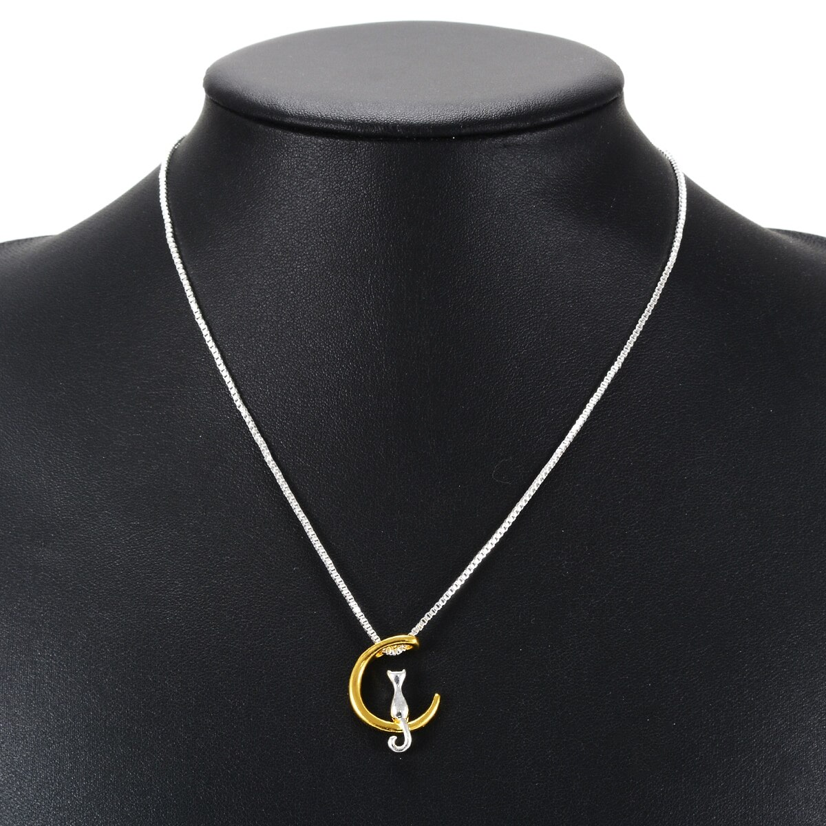 Ожерелье с подвеской Кот на Луне длинная цепочка шею бижутерия|long chain|cat fashionpendant cat