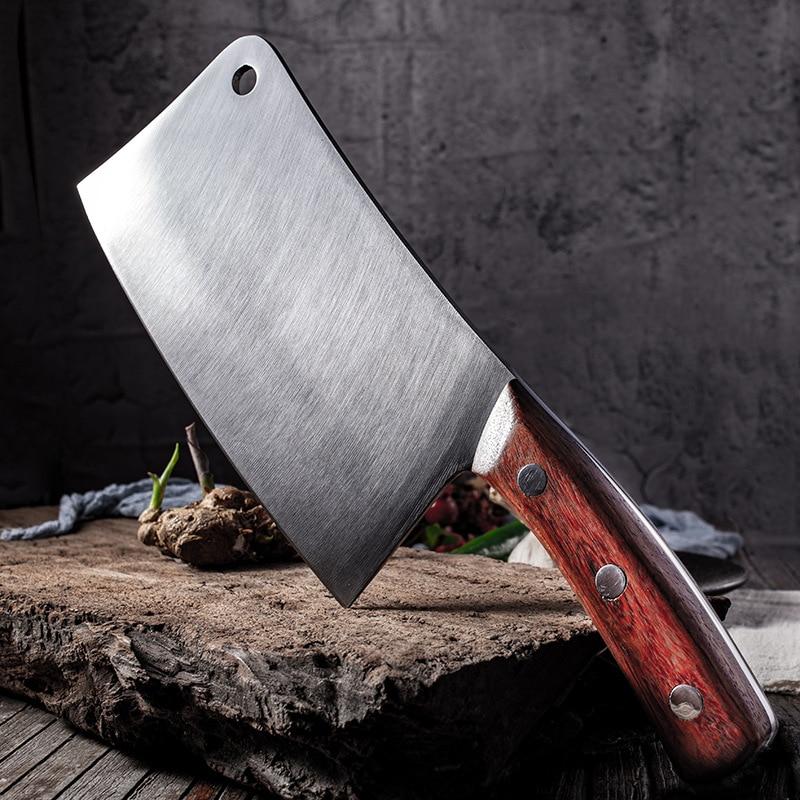سكين مطبخ من الفولاذ المقاوم للصدأ سكين تقطيع العظام الكبيرة سكين تقطيع العظام 4Cr14mov جودة عالية خنزير العظام النوم العظام المروحية