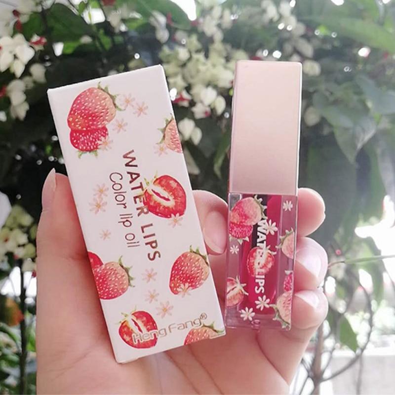 Lip Balm Color Change Transparent Lip Gloss Moisturizing Lasting Liquid Lipstick Plant Fruit Lip Oil Lip Skin Care Oil