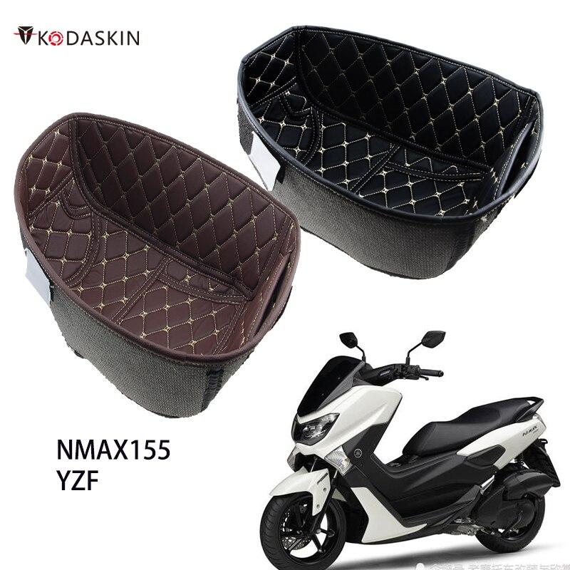 دراجة نارية بولي Leather الجلود الخلفي جذع البضائع بطانة حامي دراجة نارية مقعد دلو وسادة ل NMAX 155 nmax155 ياماها اكسسوارات 16-21