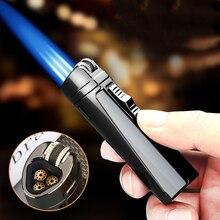 2020 New Metal Windproof Triple Torch Lighter Outdoor Gas Butane Jet Flint Lighter Turbo BBQ Cigar Spray Gun Gadgets For Men