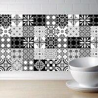 Autocollants muraux auto-adhesifs  carreaux impermeables Anti-huile  decoration de cuisine salle de bains  ligne de taille  Art mural  15cm 20cm