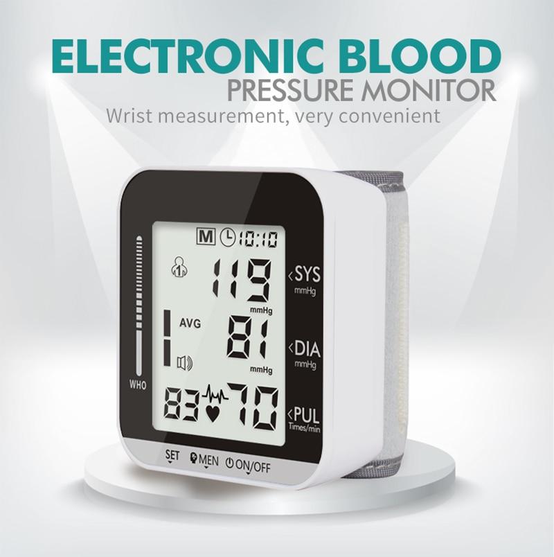 Smart Watch Blood Pressure Monitoring Electronic Wrist Pulse Sphygmomanometer Digital BP Monitor Detector for Healthcare