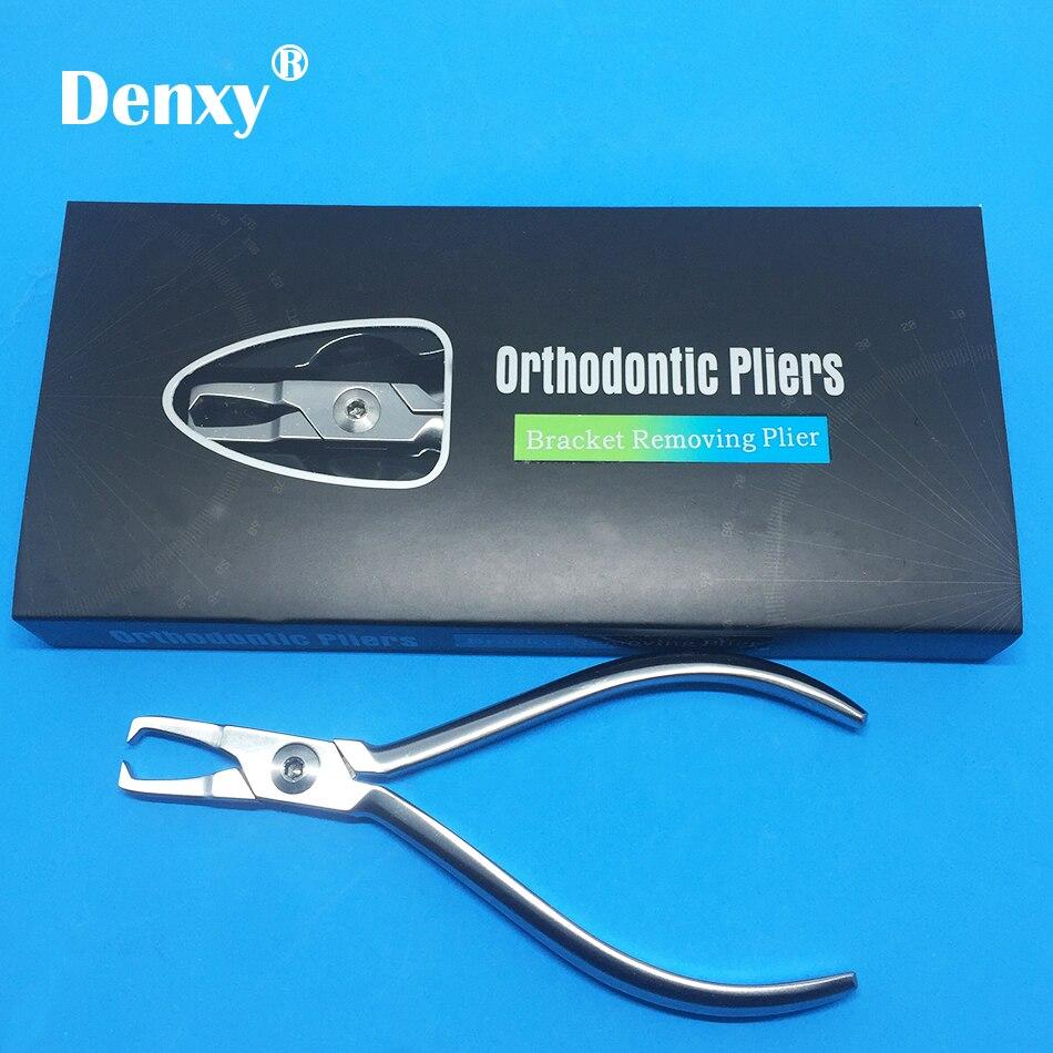 Denxy 1 قطعة الأسنان تقويم الأسنان قوس إزالة كماشة تقويم الأسنان كماشة هدفين مزيل ذو طيات إزالة كماشة ملقط الأسنان أداة