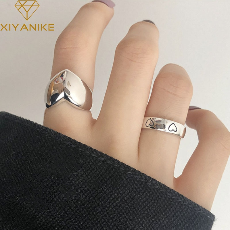 Кольца XIYANIKE в виде сердца для женщин и пар