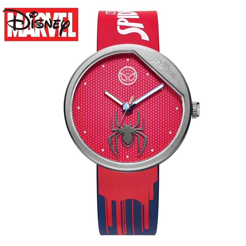 Disney Original Marvel The Avengers SpiderQuart Relogio Masculino 9135z WristWatch Man Antique 50M Waterproof Clock Male Watch