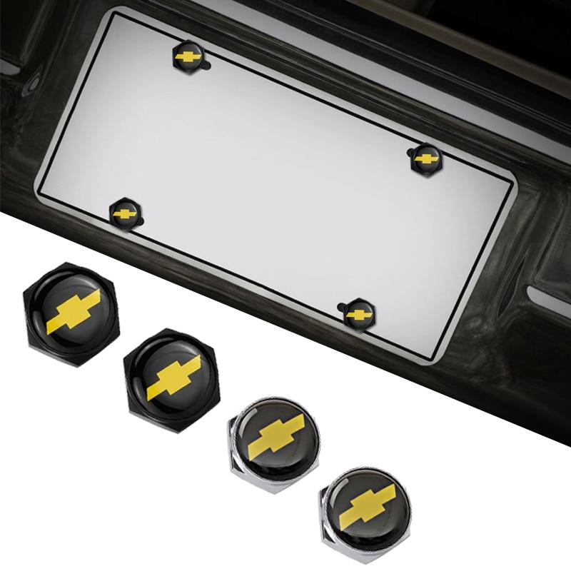 Insignia de coche para Chevrolet Aveo Chevrolet Cruze Malibu, Trax Lacetti Niva Camaro Sail accesorios matrícula pernos cromo tornillos tuercas
