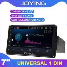 7 pollici Singolo Din Universale Android Autoradio Radio Player GPS DSP SPDIF Specchio Link Subwoofer DAB DVR Bluetooth 5.1 WiFi TPMS