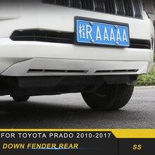 Toyota Prado 2018-2019 자동차 스타일링 뒷문 트렁크 범퍼 펜더 수호자 씰 커버 프레임 트림 스티커 Accessorie