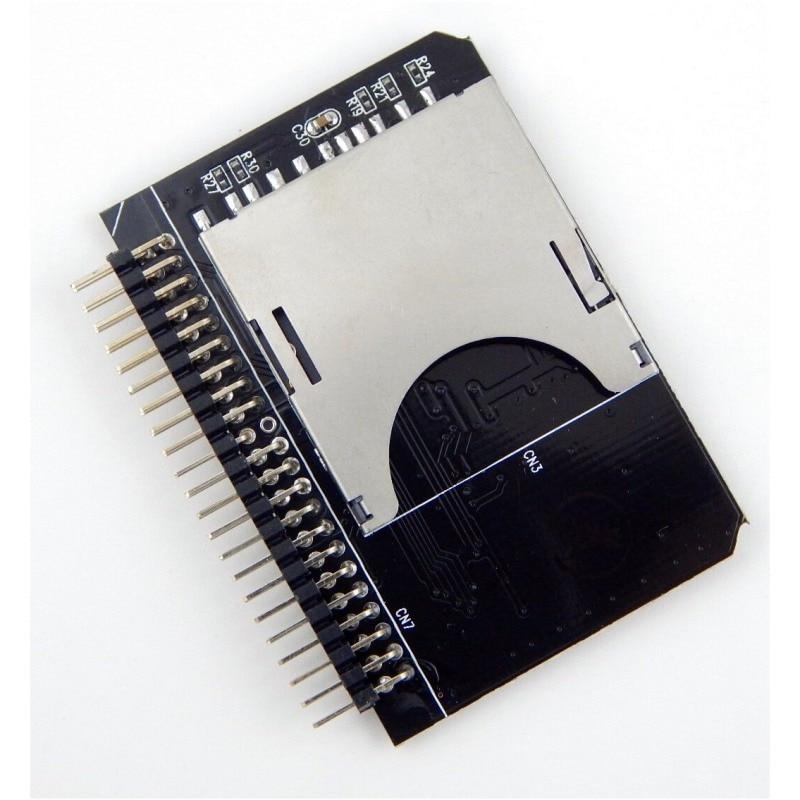 """SD SDHC SDXC MMC tarjeta de memoria a IDE 2,5  """"44 Pin macho Adaptador convertidor (US)"""