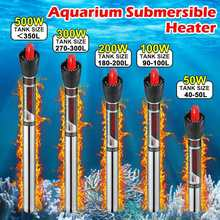 50W/100W/200W//300W/500W Aquarium chauffage Submersible réservoir de poissons réglable tige de chauffage de leau contrôle de température constante