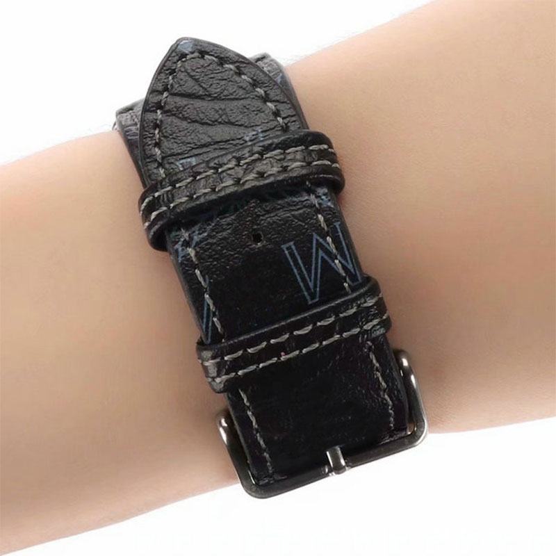 genuine leather band for apple watch 38 40mm 42 44mm series 1 2 3 4 iwatch strap belt brown black blue red bracelet i307 Genuine leather Strap for apple watch Band 44mm 40mm Italy plaid belt bracelet Correa iwatch Series 6 SE 5 4 3 band  38mm 42mm