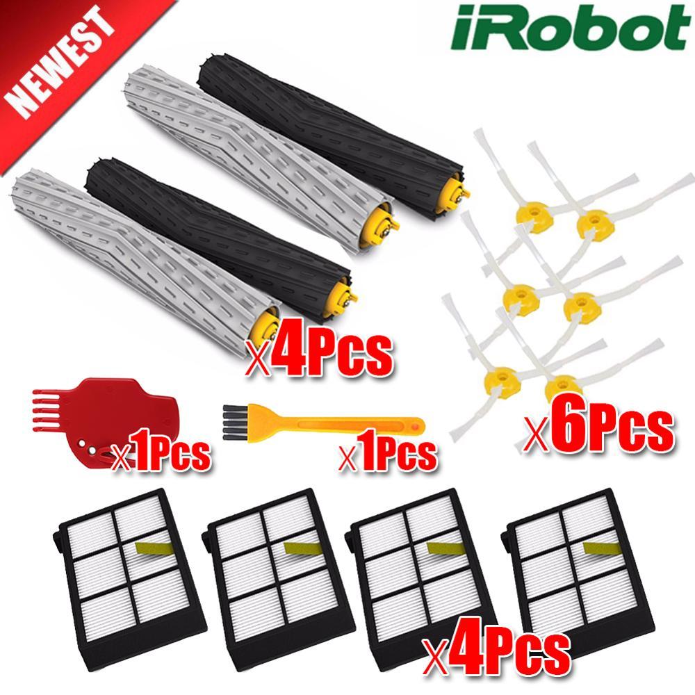 Kit de escova lateral para aspirador hepa, rolo principal, escova lateral para irobot roomba 800 série 900 870 880 980, robô aspirador de pó peças