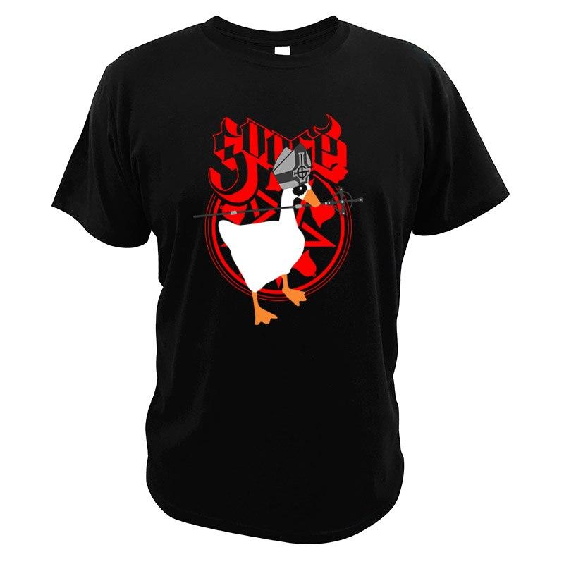 Camiseta Ghost Band Goose, juego de parodia, impresión Digital, talla europea, cuello redondo de alta calidad, camisetas suaves, camiseta Heavy Metal