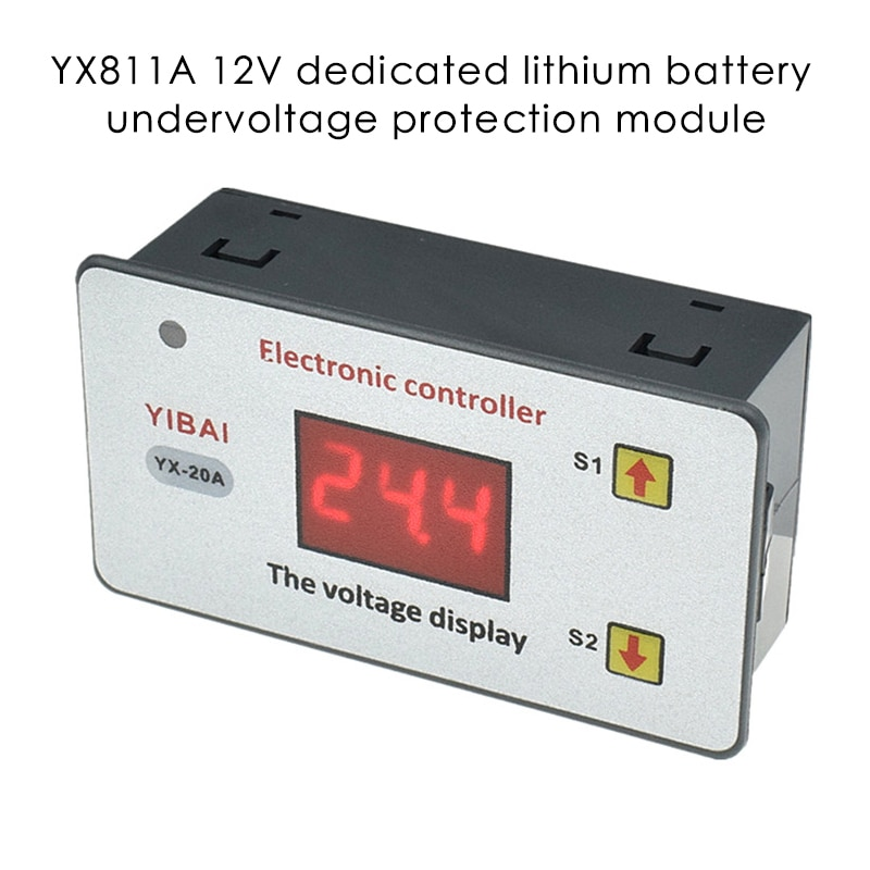 Batería de baja tensión de 12V, 20a, controlador de bajo voltaje, batería de 12V con corte de voltaje, protección automática