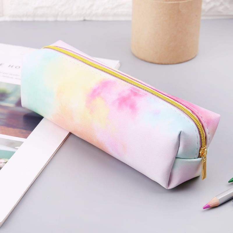 1Pc Kawaii Pencil Case Colorful Pink Make up Gift Case Bag School Pencil Box Pencilcase Pencil Bag School Supplies Stationery new 1 pc pencil case avocado school pencil box pencilcase transparent pencil bag school supplies stationery