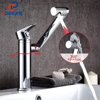 wash basin bathroom faucet hot and cold water deck mount mixer sink tap rotating nozzle bath with modern single handle kitchen f
