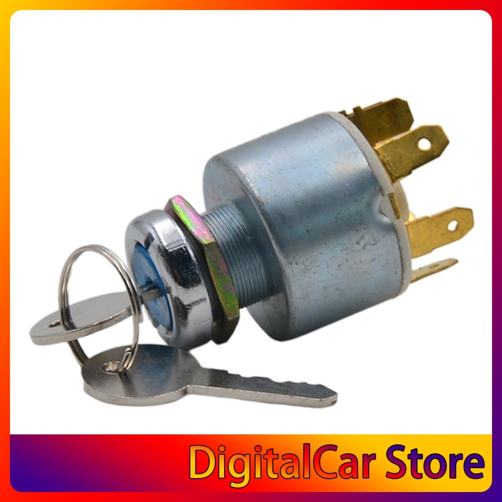 For Generic Motorboat Motorcycle 12v The Ignition Switch Key 4 Position Trikes Lawnmowers Update Accessories