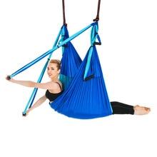 Hot 6 Handgrepen Anti-Gravity Yoga Hangmat Trapeze Home Gym Opknoping Riem Swing Strap Pilates Antenne Tractie Apparaat 2.5*1.5 M
