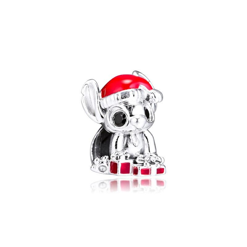 Ckk ajuste pandora pulseira ponto natal encantos prata 925 contas originais para fazer jóias sterling diy