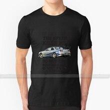Paul Walker Tribute GTR - Halftone T Shirt Custom Design Cotton For Men Women T - Shirt Summer Tops paul walker brian oconner