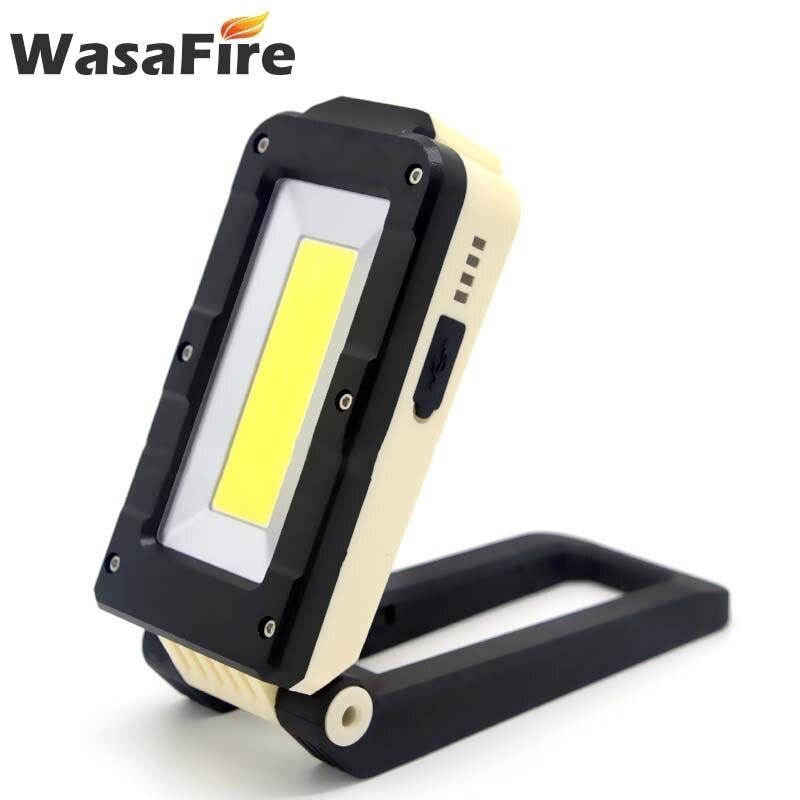 Cob portátil + xpe led worklamp carregamento usb lanterna tocha luz vermelha e branca ímã gancho lanterna de trabalho bateria embutida