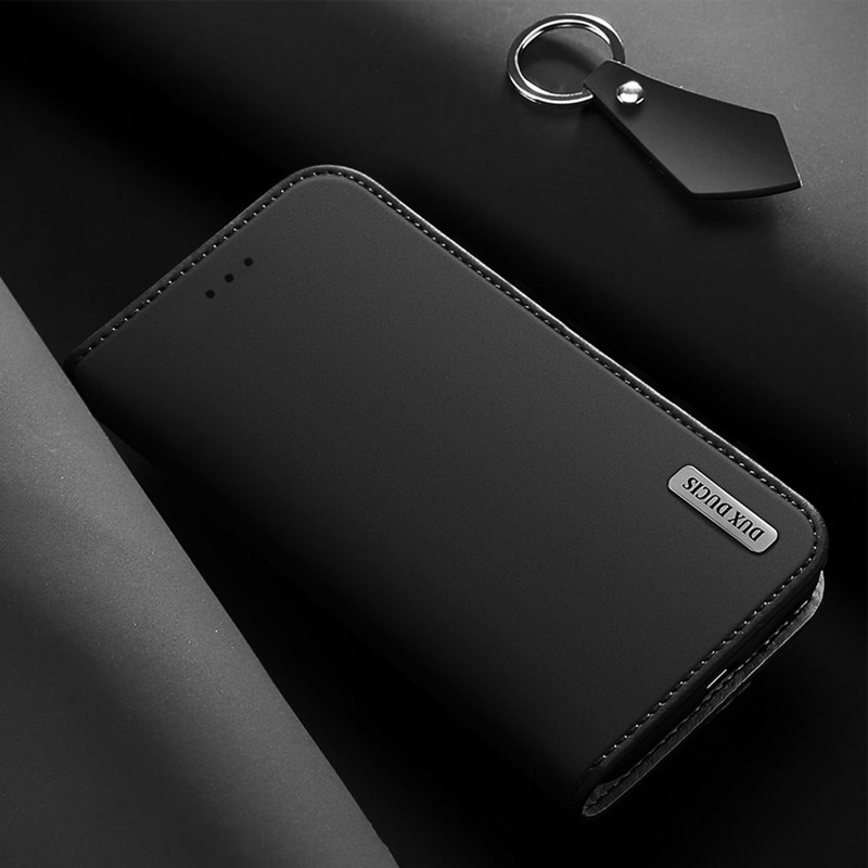 Funda de cuero genuino suave táctil para Sony Xperia 5 De Lujo cartera para móvil con soporte funda con tapa magnética para Sony Xperia 5/Xperia5