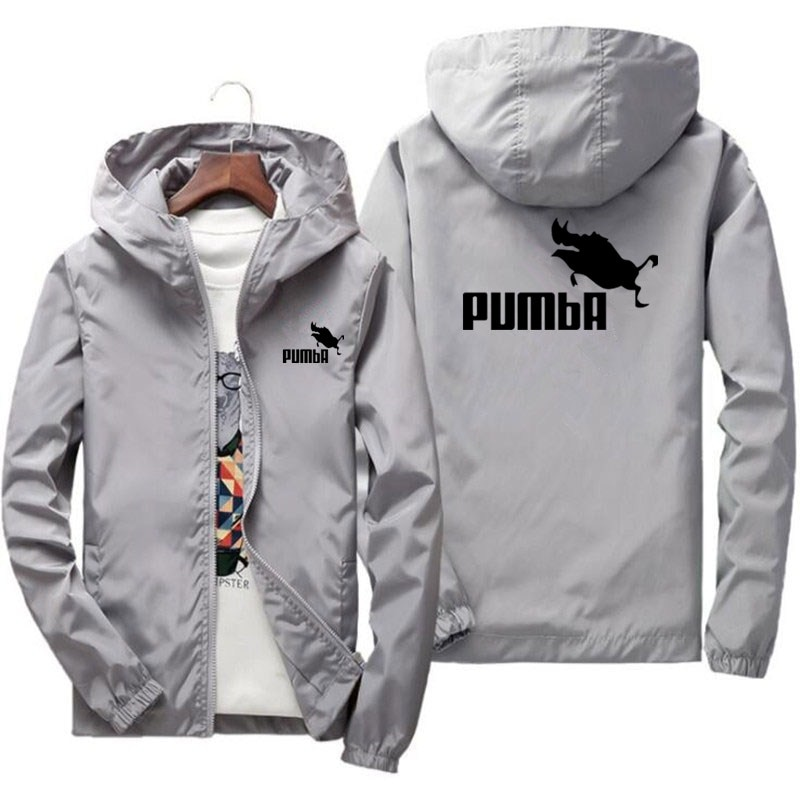 2021 spring and summer new PUMBA jacket men's street windbreaker hoodie zipper thin jacket men's spo