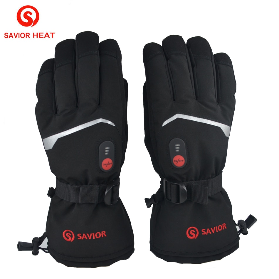 2020 NEW Battery Heated Motorcycle Gloves Goat Skin Leather 3 Shift Temperature Control Waterproof Electric Heated Gloves