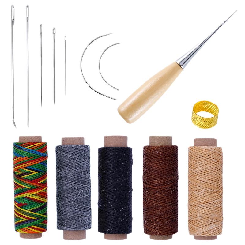 1 Juego de agujas de coser de cuero accesorios de costura de cuero herramientas de costura de lona de cuero